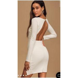 NEW Lulus Backless white dress large